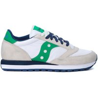 Saucony  Jazz beige, white and green leather and nylon sneakers  men's Shoes (Trainers) in White