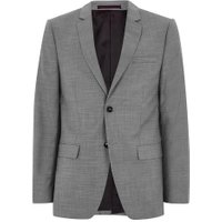 Mens Mid Grey Grey Marl Slim Fit Suit Jacket, Mid Grey