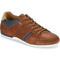 Le Coq Sportif  CERNAY LEATHER/CHAMBRAY  men's Shoes (Trainers) in Brown