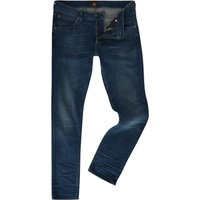 Men's Lee Luke Strummer Worn Slim Tapered Fit Jeans, Denim Mid Wash
