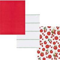 John Lewis & Partners Tomato Tea Towels, Assorted, Pack of 3