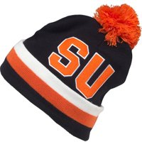 Mitchell & Ness Mens Syracuse University Cuff Knit Bobble Hat Black