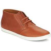 Fred Perry  BYRON MID LEATHER  men's Shoes (High-top Trainers) in Brown