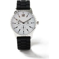 Mens Black Silicone Watch*, Black