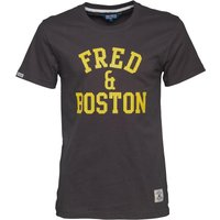 Fred & Boston Mens T-Shirt With Mesh Print Magnet