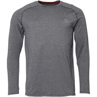 More Mile Mens Performance Long Sleeve Running Top Grey Marl