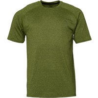 More Mile Mens Performance Short Sleeve Running Top Olive Marl