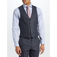 John Lewis & Partners Semi Plain Tailored Waistcoat, Petrol