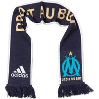 adidas Mens OMFC Olympique De Marseille 3 Stripe Scarf Night Navy/White