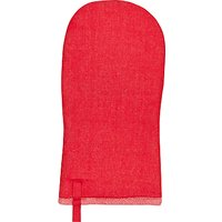 House by John Lewis Woven Cotton Oven Glove, Red