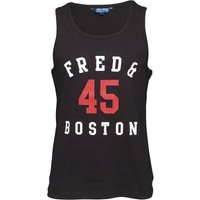 Fred & Boston Mens Vest With Mesh Print Black