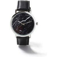 Mens Brown Black Marble Leather Watch*, Brown