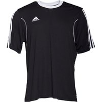 adidas Mens Squadra 13 3 Stripe Climalite Top Black/White