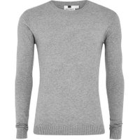 Mens Grey Ultra Muscle Fit Jumper, Grey