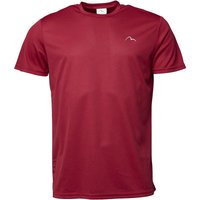 More Mile Mens Running Top Deep Claret