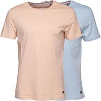 Fluid Mens Two Pack Plain T-Shirt Pale Blue/Pale Pink