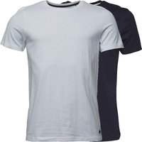Fluid Mens Two Pack Plain T-Shirt Navy/White