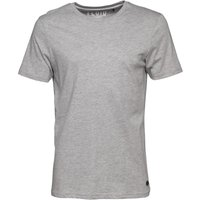 Fluid Mens Plain Crew Neck T-Shirt Grey Marl
