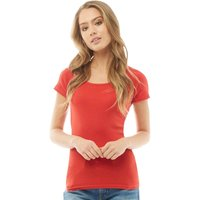 Fluid Womens Ribbed T-Shirt Red