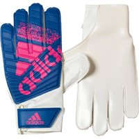 adidas Mens X Lite Goalkeeper Gloves White/Blue/Shock Pink