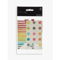 John Lewis & Partners Stripe and Spot Gift Tags, Pack of 4