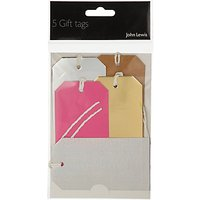 John Lewis & Partners Metallic Luggage Gift Tags, Pack of 5