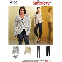 Simplicity Women's Knit Tops and Trousers Sewing Pattern, 8465
