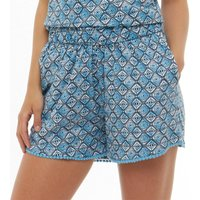 Board Angels Womens Printed Jersey Shorts Blue/Navy