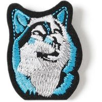 Mens Blue Fabric Wolf Badge*, Blue