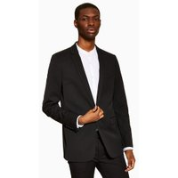 Mens Black Super Skinny Fit Suit Jacket, Black