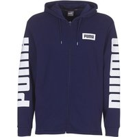 Puma  REBEL FZ HOODY TR  men's Sweatshirt in Blue