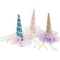 Talking Tables Unicorn Clip-On Hat, Assorted