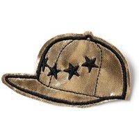 Mens Multi Gold and Black Hat Fabric Badge*, Multi