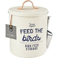 Burgon & Ball Enamel Bird Feed Tin, Cream