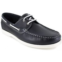 J.bradford  Mocassin Bateau  Navy Blue Leather JB-CANOA  men's Boat Shoes in multicolour
