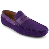 J.bradford  Loafer  Violet Leather JB-BERFIN  men's Loafers / Casual Shoes in multicolour