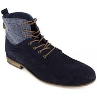 Peter Blade  Low Boots  Navy Blue Leather PUNKY  men's Mid Boots in multicolour
