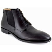 J.bradford  Low Boots  Black Leather JB-MINERAL  men's Mid Boots in multicolour