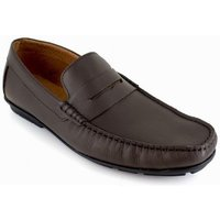 J.bradford  Loafer  Brown Leather JB-DETAIL  men's Loafers / Casual Shoes in multicolour
