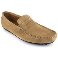 J.bradford  Loafer  Beige Leather JB-ROBE  men's Loafers / Casual Shoes in multicolour