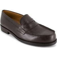 J.bradford  Loafer  Brown leather JB-FESTINA  men's Loafers / Casual Shoes in multicolour