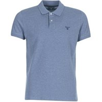Gant  CONTRAST COLLAR PIQUE RUGGER  men's Polo shirt in Grey