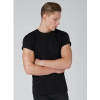 Mens Black Ultra Muscle Fit Roller T-Shirt, Black