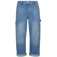 Mens Light Blue Stretch Carpenter Fit Jeans, Blue