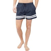 Fred & Boston Mens Taslan Shorts With Leg Stripes Navy