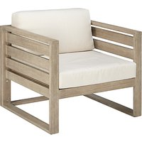 John Lewis & Partners St Ives Outdoor Lounging Chair FSC-Certified (Eucalyptus Wood), Natural
