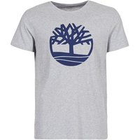 Timberland  SS KENNEBEC RIVER BRAND TEE  men's T shirt in Grey
