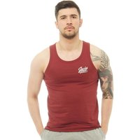 JACK AND JONES Mens Anything Chest Tank Top Cordovan