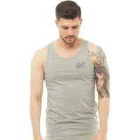 JACK AND JONES Mens Anything Chest Tank Top Light Grey Melange
