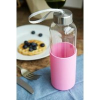 Silicone Rose Wrap Water Bottle, pink
